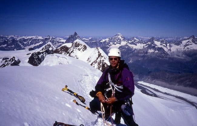 At the summit ridge of the...