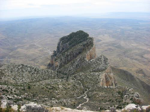 Top of El Capitan from Guadalupe Peak