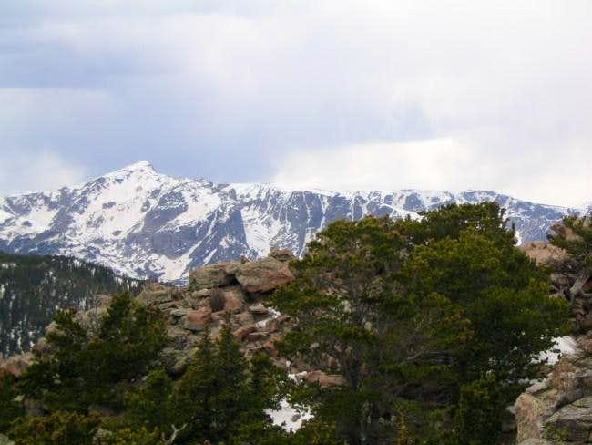 Hallett peak and Flattop...