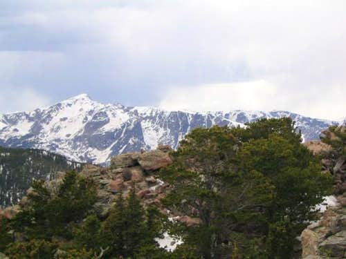 Hallett peak and Flattop...
