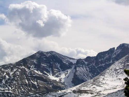 Mt Meeker and Longs Peak as...