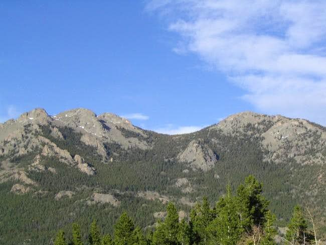 Twin Sisters as seen from the...