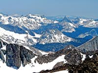 Toulumne Meadows and Cathedral Range from Excelsior Mtn.