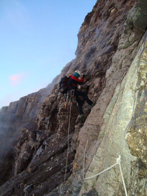 Descent  rapel  Corti Biwak - Stollenlock