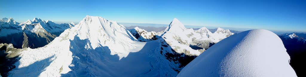 View from Alpamayo summit