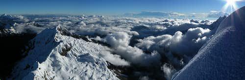 View from Alpamayo summit