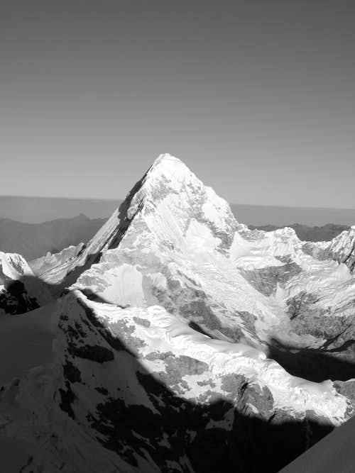 View of Santa Cruz Grande from Alpamayo summit