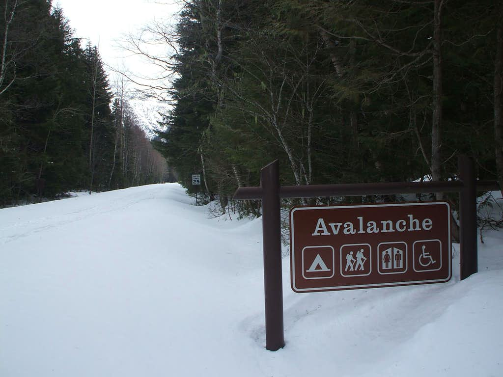Avalanche Campground in winter