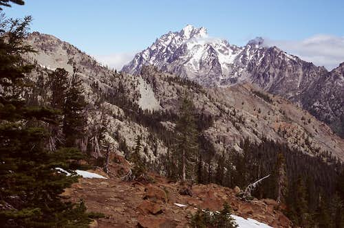 Mount Stuart from Northwest Ridge of Mary\'s