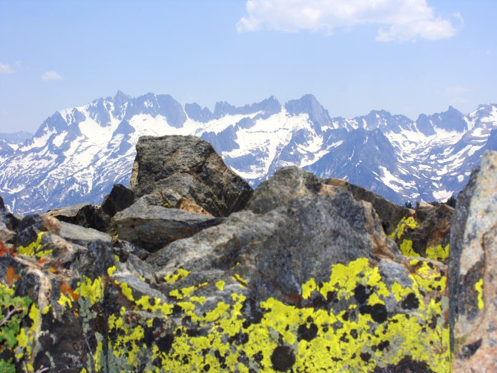 View of the Sawtooth Ridge from the summit