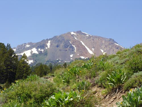 View of Eagle Peak heading up the trail