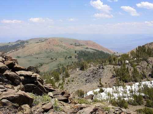 View to Sawmill Ridge Peak 10,325' from Peak 10401