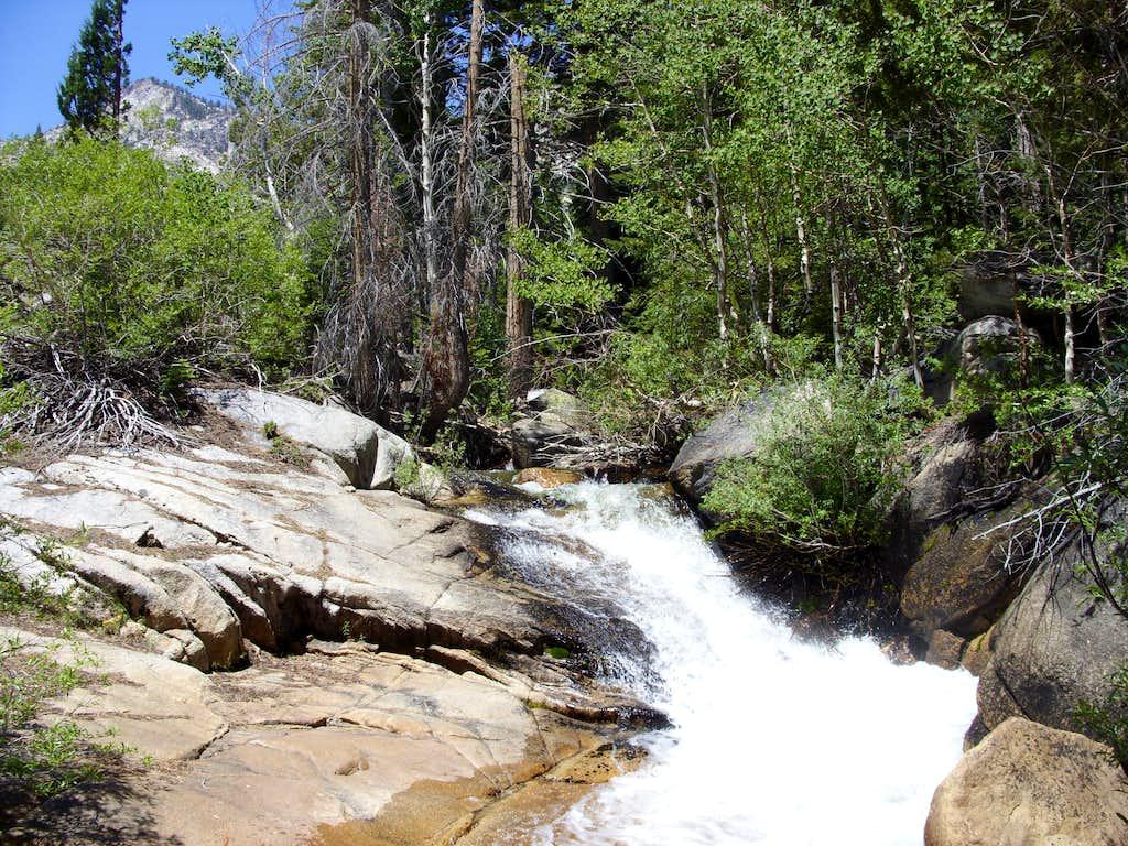 Waterfall along the Barney Lake Trail