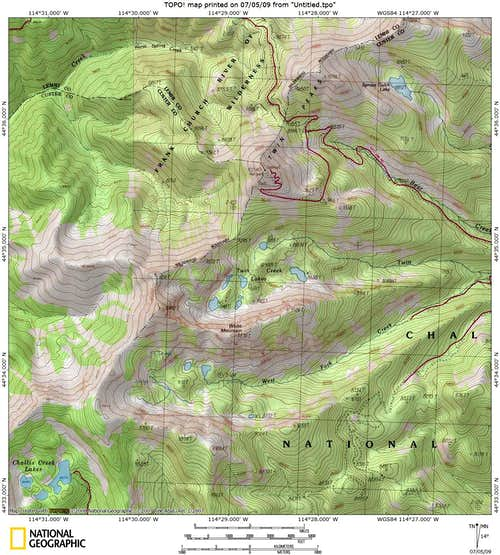 White Mountain Map