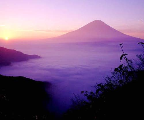 Mount Fuji which was seen...