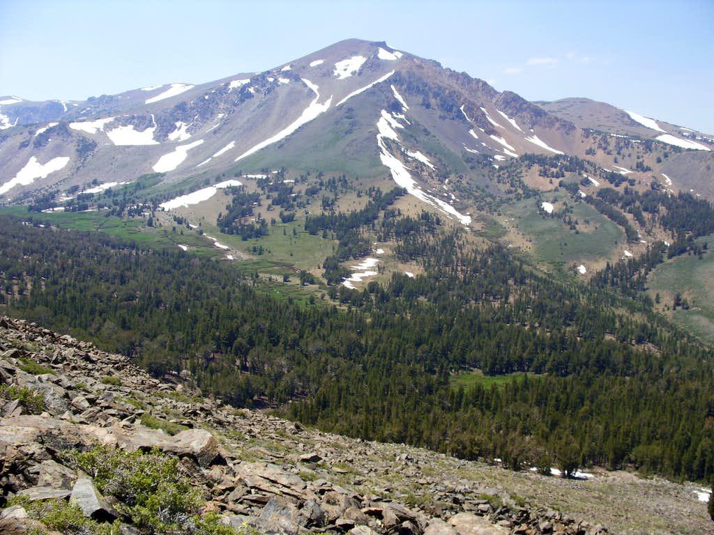 Looking back at Eagle Peak