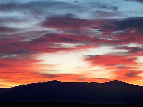 Sunrise over North Twin Cone Peak & South Twin Cone Peak