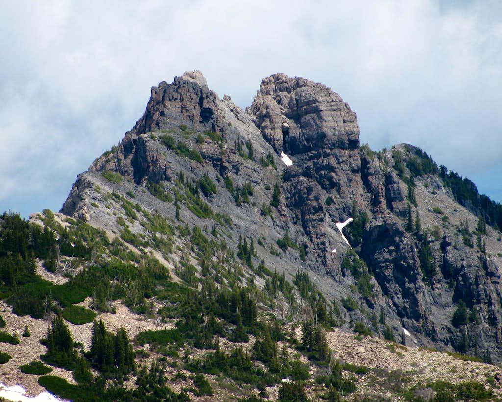 Devil's Castle from Mount Baldy