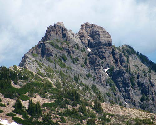 Devil\'s Castle from Mount Baldy