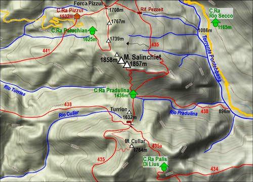 Monte Salinchiet map