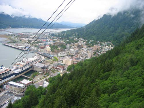 Juneau from the tram