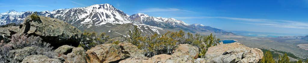 Northwest pano from Reversed Peak