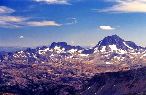 Minarets, Ritter and Banner from Mt. Wood