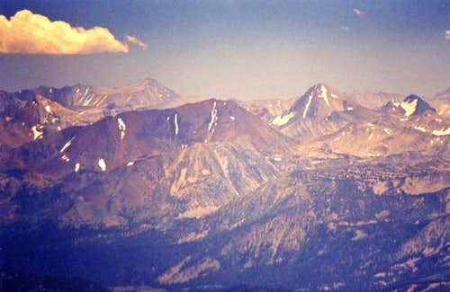 Bloody Mtn. and Red Slate Mtn. from Mt. Wood