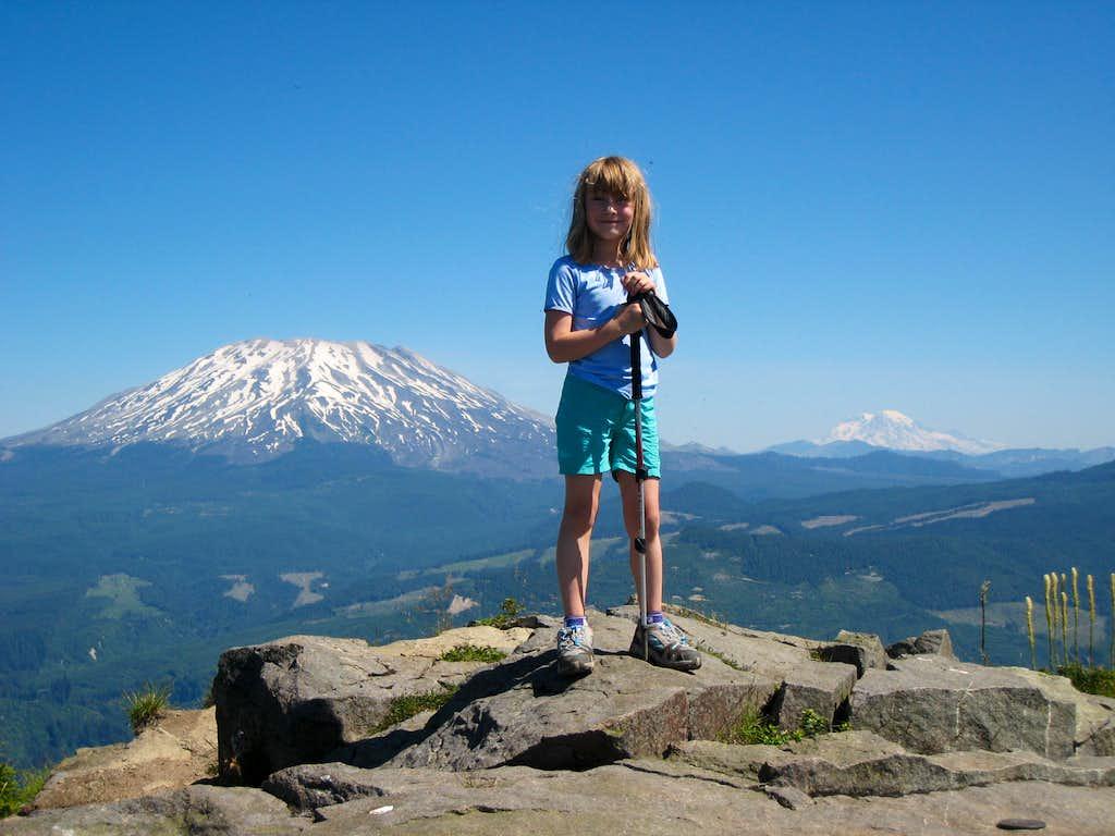 On the summit of Mt. Mitchell, WA