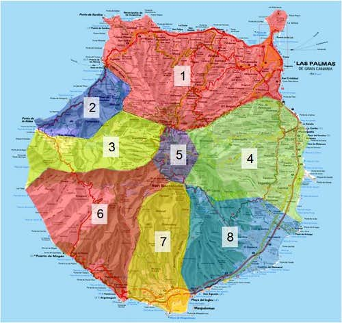 Overview Map Gran Canaria