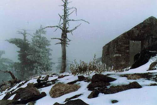 On the summit of Mount Islip...