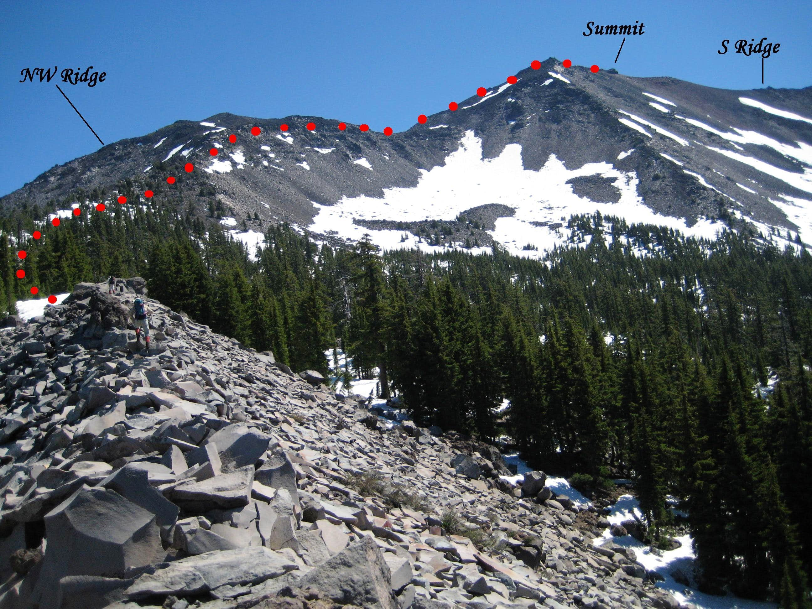 Diamond Peak: Upper SW Ridge