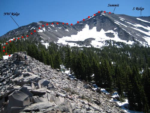 Upper SW Ridge Route