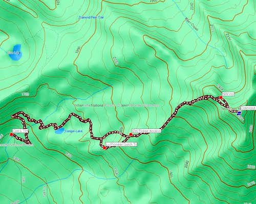 Upper SW Ridge Route Overview