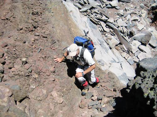 Scrambling the Upper Ridge