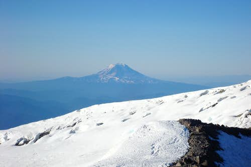 view of Mt. St. Helen from the top