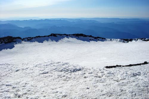 Crater on the top of Rainier