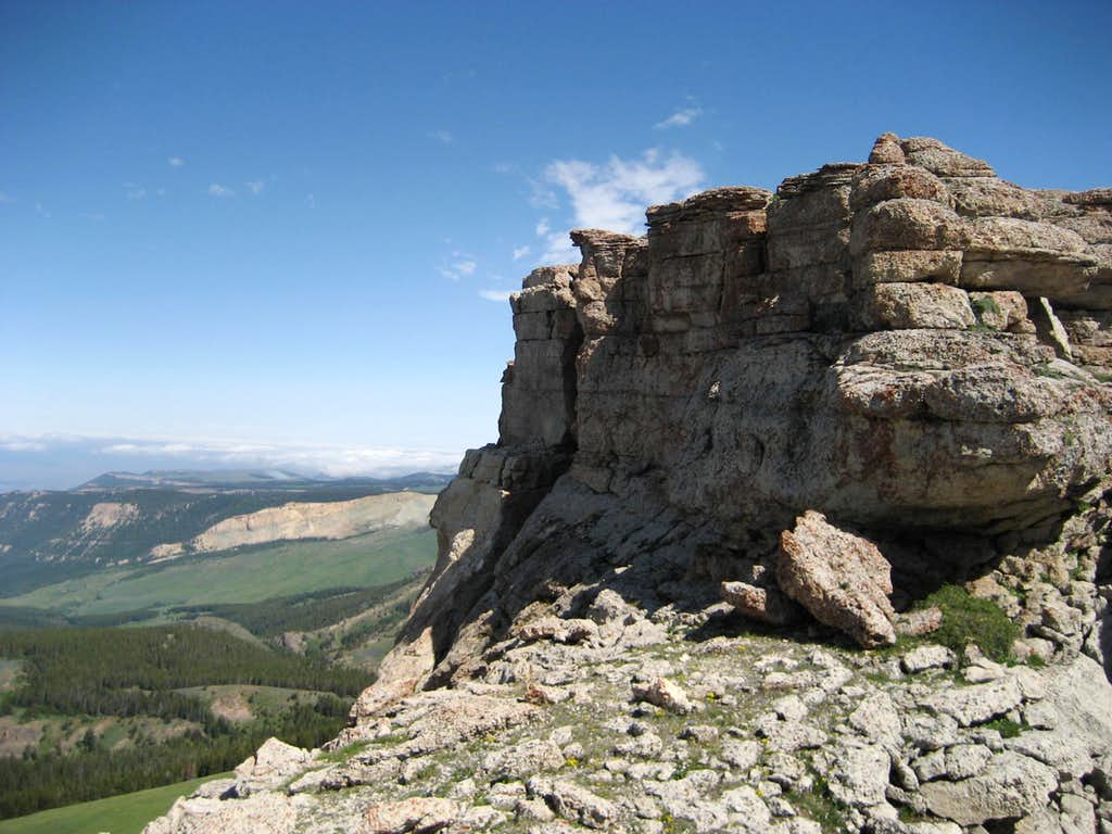 Looking north past the summit