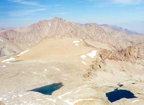 "Mt. Keith and ""Polychrome Peak"" from Mt. Versteeg"