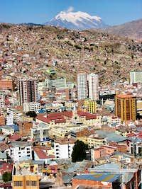 Illimani from La Paz