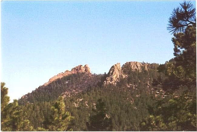 The flatirons are large rock...