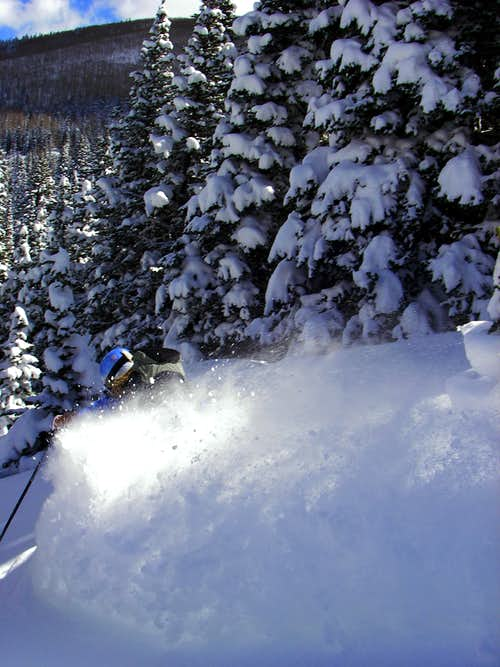 Skiing Big Water Gulch