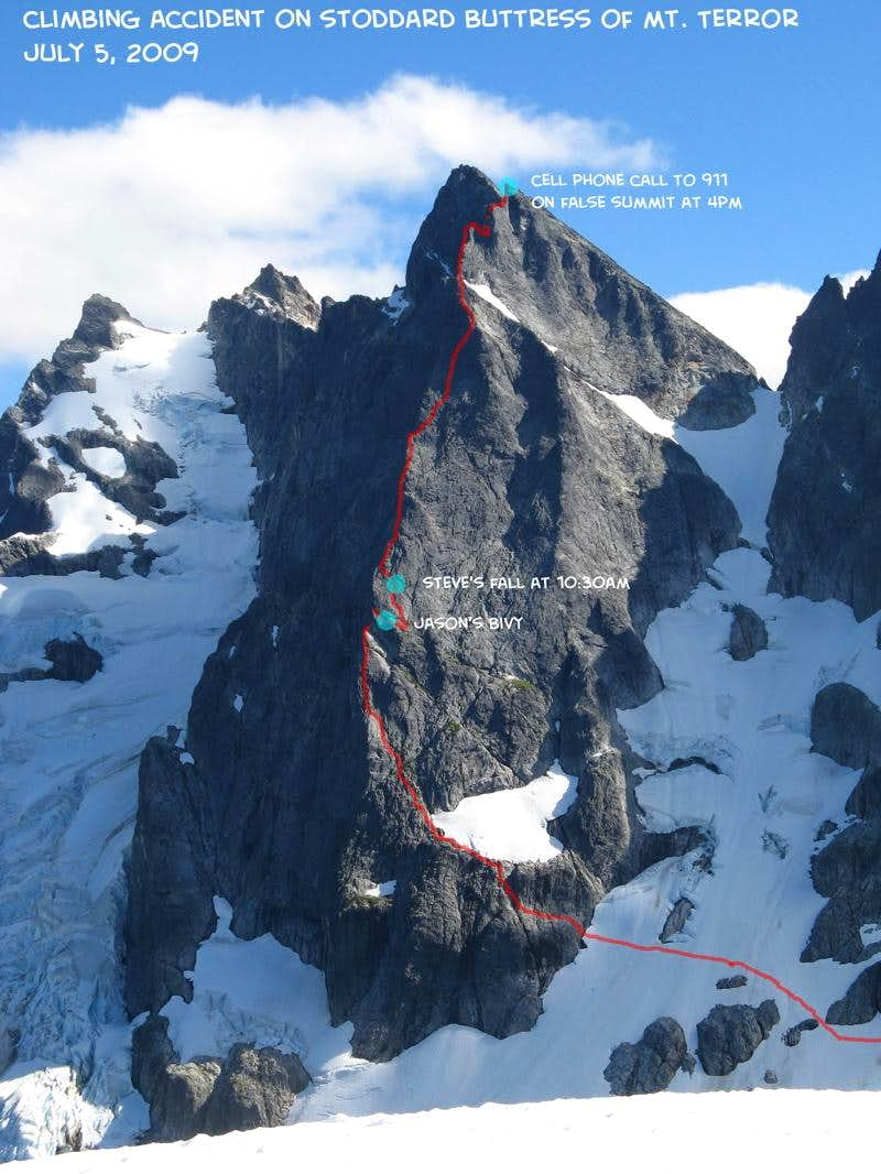 5-day climbing rescue on Mt. Terror (plus Inspiration S Face, Degenhardt, Pyramid, West McMilllan)