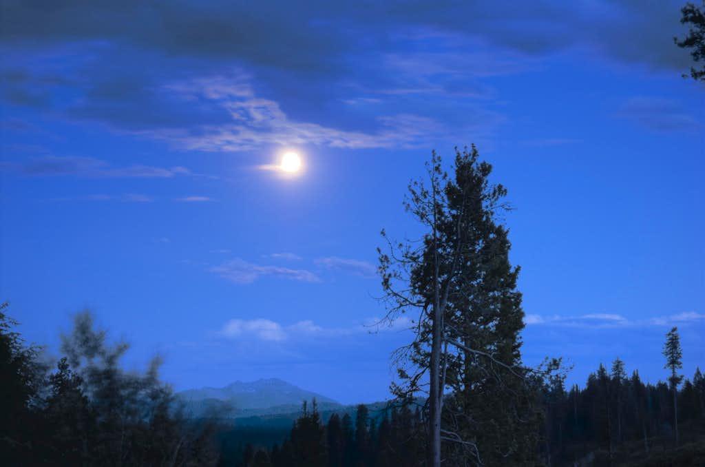 Moon over Boise Mountains