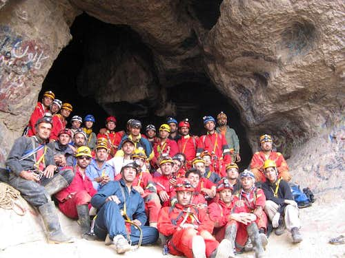 our team in Hampoiel cave