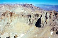 """""""Mt. Morgenson"""" and Mt. Russell from Whitney"""