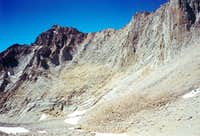 """""""Mt. Morgenson"""" from below Whitney/Russell Pass"""