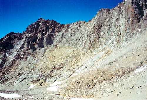"""Mt. Morgenson"" from below Whitney/Russell Pass"