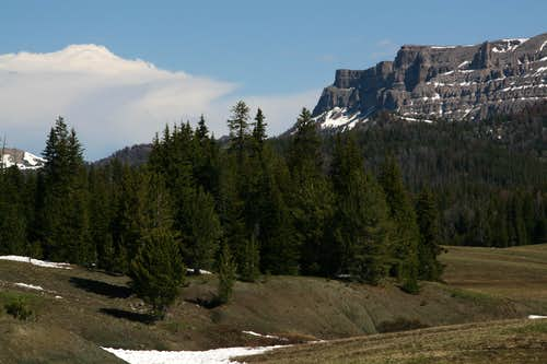 Cliffs of Buffalo Fork Peak