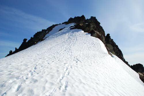 Final slope to the top